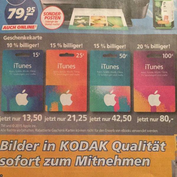 Real Angebot ITunes Rabatt bis zu 20%