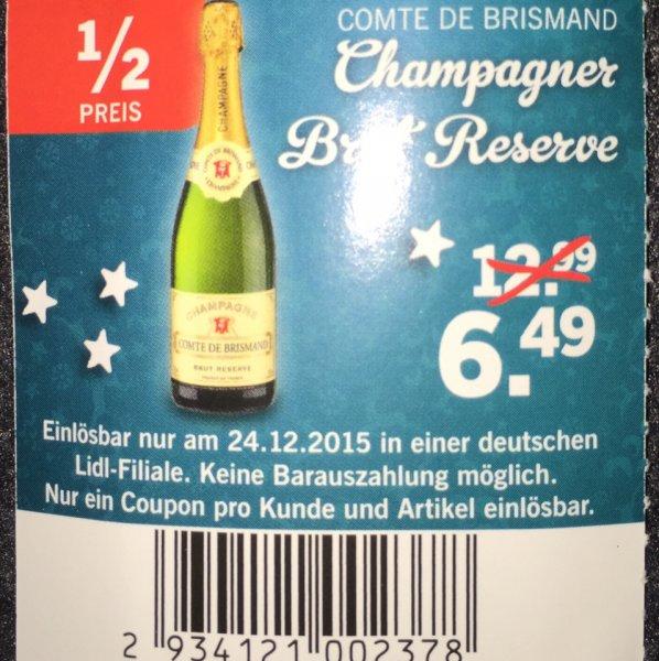 [Lidl] Champagner 50% reduziert für 6,49€