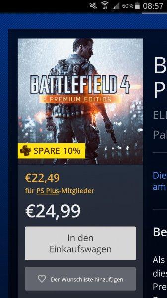 Battlefield 4 Premium Edition im PSN-Store