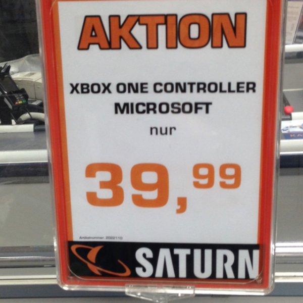Xbox One Controller 39,99 [Lokal Saturn Bielefeld]