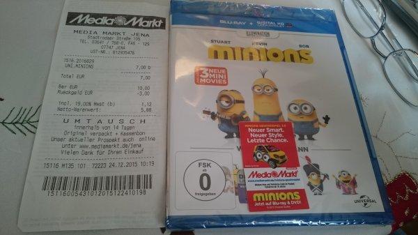 (MediaMarkt Jena) Minions Blu-ray für 7,00 €