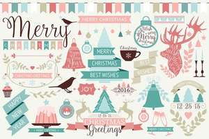 [Vector-EPS] Christmas Design Elements