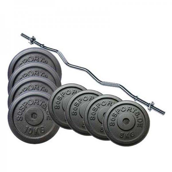 [scsports.de] Curlhantel Set - 67 kg für 87,92€ und günstige Hantelscheiben