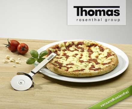 4 Pizzateller inkl. Pizzaroller von Thomas Rosenthal, 32cm, für 29,95 inkl Versand (statt 145,95)