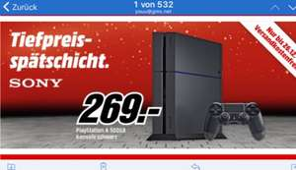 PS4 500GB Media Markt. Mit Gutscheinen 229euro