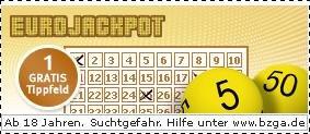 Gratis Tippfeld EuroJackpot mit web.de Club
