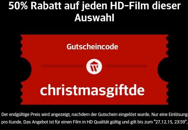 [wuaki.tv] 50% auf einen HD Kauffilm u.a. Mad Max Avengers Jurassic World ..