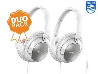 2 Philips-Kopfhörer mit Mikro zum Preis von einem (24,95€ + 5,95€ VSK)
