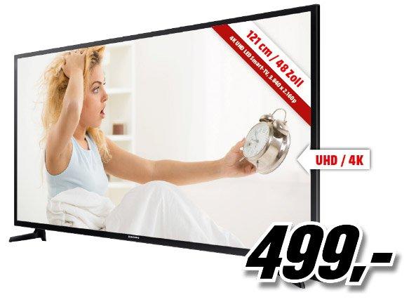 """[AUT/MediaMarkt] SAMSUNG UE 48 JU6070 48""""/121 cm 4K UHD LED Smart-TV nur am 28. Dezember von 6:00 – 9:00 vertragsfrei für 499,- Euro"""