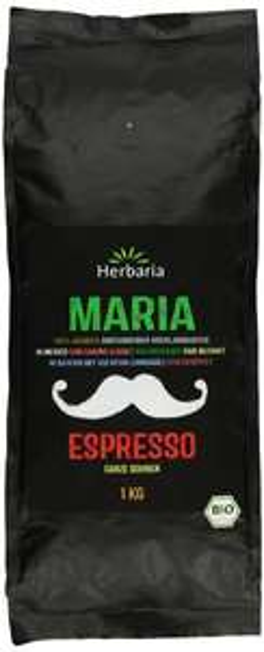 "[Amazon Prime] Herbaria ""Maria"" Espresso ganze Bohne, 1er Pack (1 x 1 kg) - Bio für 7,47€"