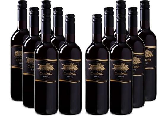 [3% Qipu] 12er-Paket 2013er Cielo e Terra - Casaletto Rosso VdT italienischer Rotwein (Merlot+Sangiovese) für 34,95€ frei Haus @Dealclub
