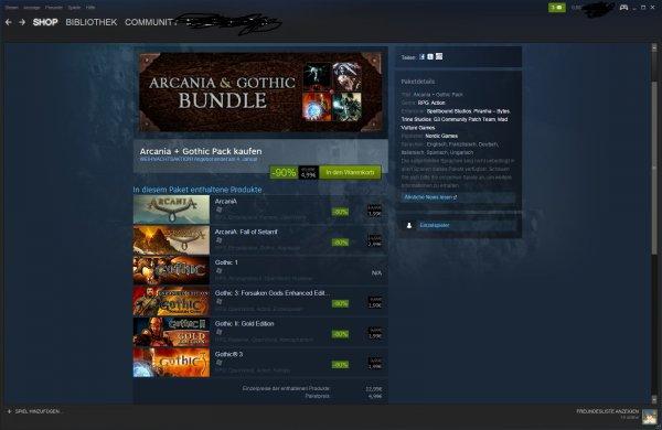 Steam Gothic Paket für nur 4,99 Euro