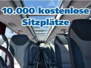 Kostenlos Busfahren: 10.000 Gratis-Sitzplätze bei DeinBus Nur solange der Vorrat reicht