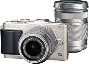 [Expert Bening] Olympus Pen E-PL6 Kit 14-42 mm + 40-150 mm + 8GB WiFi + Tasche - 299€