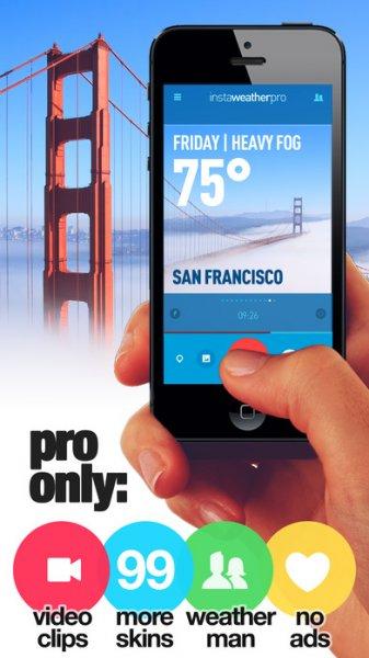 InstaWeather Pro (iPhone & iPad) derzeit kostenlos