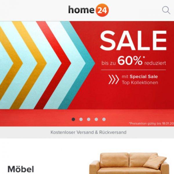 Home24.de bis zu 60% reduziert auf verschiedene Artikel + Versand frei