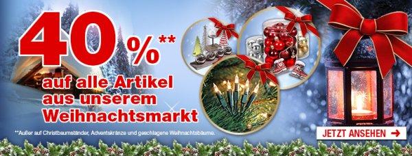 ( HELLWEG Baumarkt online ) Weihnachtsabverkauf 40 %
