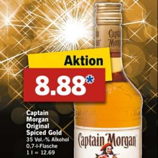 [Lidl] Captain Morgan für 8,88€ ab 28.12
