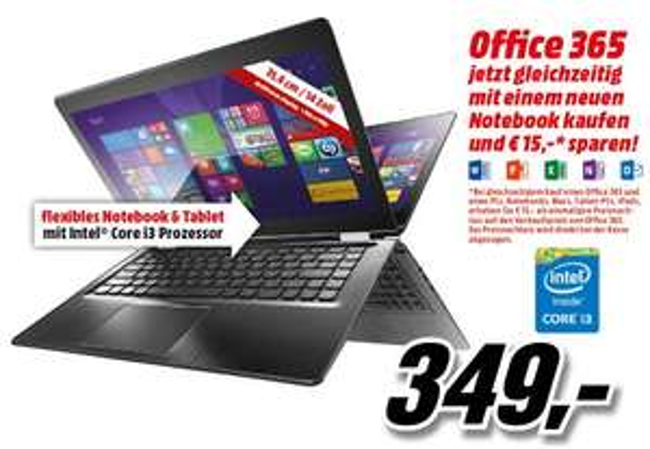 [Media Markt - Österreichweit] LENOVO Yoga 500 14 Zoll 2-in-1 Tablet-PC