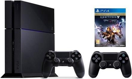 [Digitec.ch - Schweiz] Sony Playstation 4, 500GB, C-Chassis + 2 DS4 Controller + Destiny: König der Besessenen für 304€