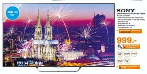 (Lokal) SONY KD55X8505 CBAEP für 999€ @ Saturn Düsseldorf