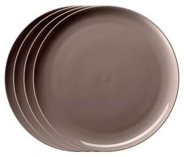 [8% Qipu] 4 Teller aus durablem Porzellan ( taupe ) für 8,95€ bei Lieferung in die Filiale @Tchibo Filiale