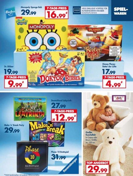 [Karstadt/Bundesweit/Offline] Sammeldeal diverser Spiele z.B. Monopoly Spongebob für 16,99€ (Idealo 25,99€)