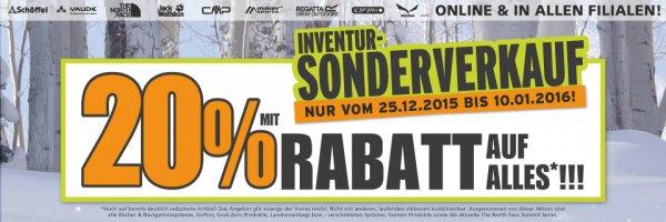 McTrek Inventur-Sonderverkauf 20% Rabatt auf (fast) alles (online und offline)