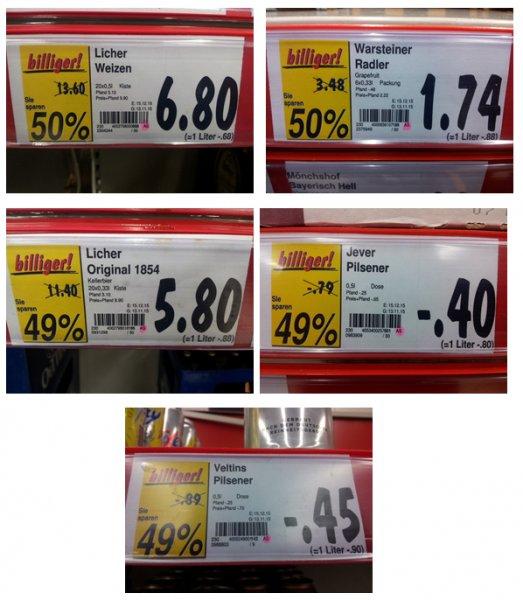 [Kaufland Weiterstadt - lokal] - Markenbier bis zu 50 % reduziert