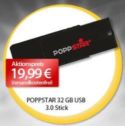 Donnerstag - 32 GB Poppstar flap USB 3.0 Stick als Tagesdeal bei MP für nur 19,99€ inkl. Versand
