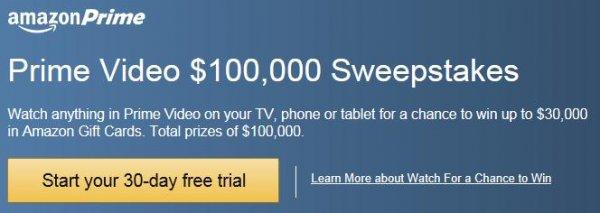 Prime bei Amazon.com 30 Tage kostenlos testen