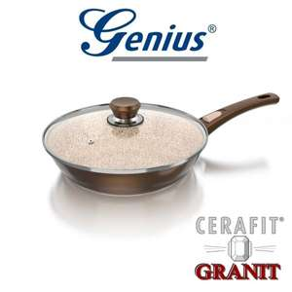 GENIUS 24147 Cerafit Bratpfanne (28 cm, alle Herdarten, Aluminium, Beschichtung Keramik, spülmaschinengeeignet) inkl. Versand für 18 € , @MediaMarkt