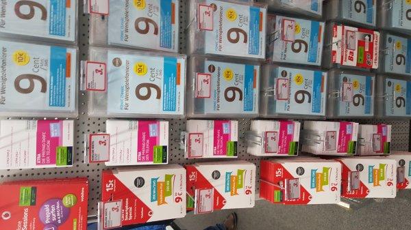 [Media Markt Ravensburg] vodafone/telekom/fonic/o2 Prepaid Karten(mit Guthaben) für jeweils 3€