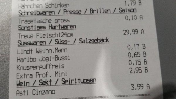 Lokal Frankfurt Kaufland Preisfehler Lindt Weihnachtsmann 0,17€