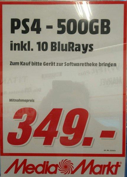 [lokal?!] PlayStation 4 500 GB + 10 BluRays