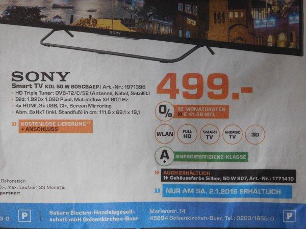 [Lokal Saturn Gelsenkirchen] Sony KDL 50 W 805 CBAEP