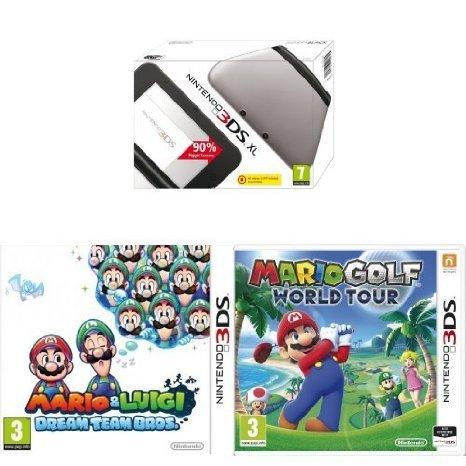 {Amazon UK] Nintendo 3DS XL + Mario Golf + Mario & Luigi Dream Team Bros