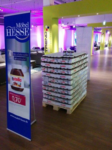 Nutella 450g Glas 0,70€ / Lokal Garbsen/Hannover - Möbel Hesse