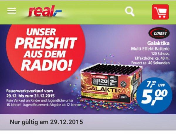 [Real]Comet Galaktika Feuerwerksbatterie nur heute 29.12.15 für 5€ statt 7,99 €.