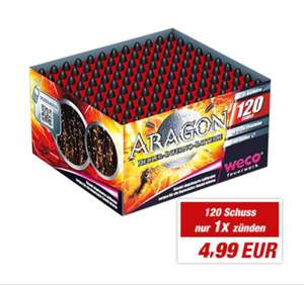 "[Toom Baumarkt] Heuler-Inferno-Batterie ""Aragon"" 120 Schuss"