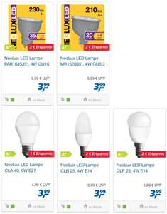 real: Nicht dimmbare Neolux- LED -Lampen ab 3,99 Euro