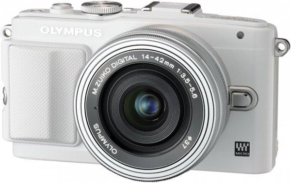 Olympus Pen E-PL6 Kit 14-42 mm EZ weiß für 300,26€ bei Amazon.es