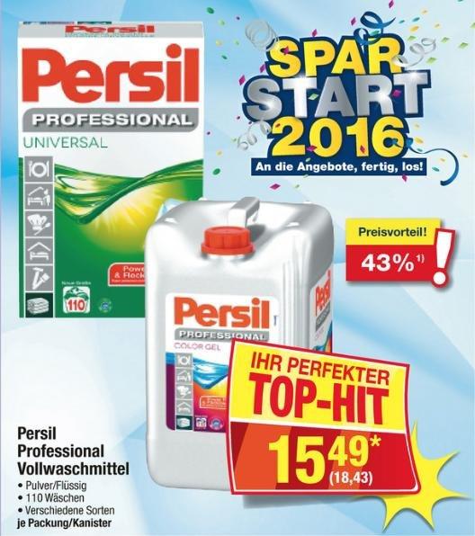 [Metro] Waschmittel Persil Professional Pulver/Flüssig ca. 110 Wäschen 18,43€