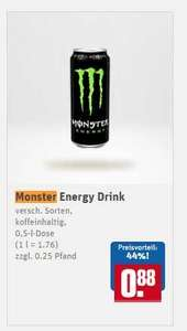 Monster Energy alle Sorten 88ct (1l=1,76€) REWE
