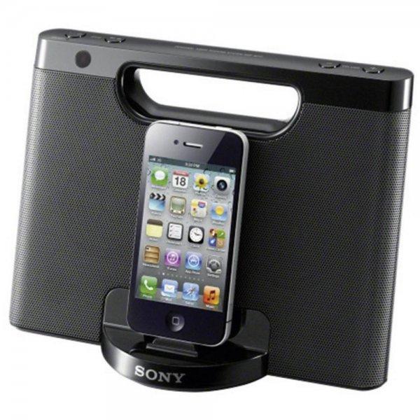 Sony RDP-M7iPN (schwarz) - Mobiler Lautsprecher (Lightning iPhone/iPod Dock, AUX-In, Batterienbetrieb), Notebooksbilliger, versandkostenfrei