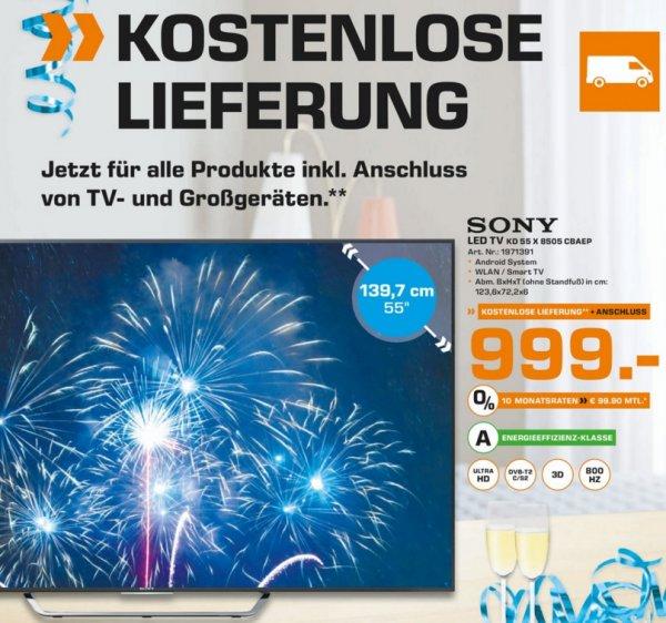 (Lokal) SONY KD55X8505 CBAEP für 999€ @ Saturn Stuttgart ,Esslingen, Leonberg