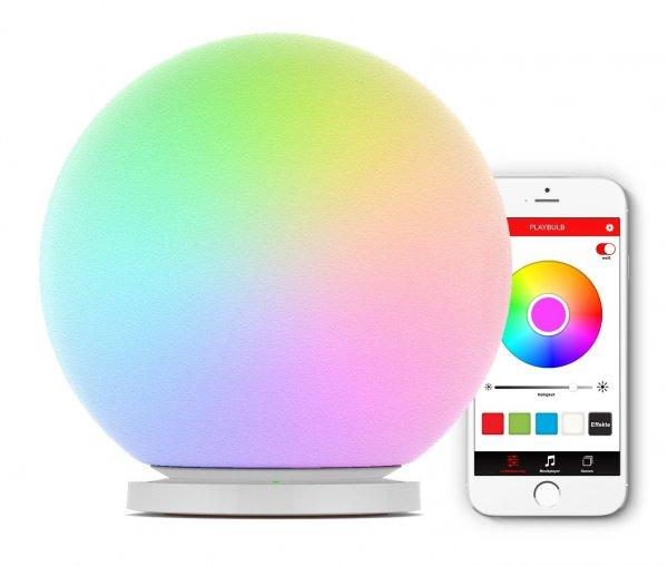 MiPow Playbulb Sphere (app-gesteuerte LED-Leuchtkugel, Nachtlicht, Stimmungslicht,inkl. Induktions-Ladestation)  für 33 € (Idealo 50 €) @ NBB.de