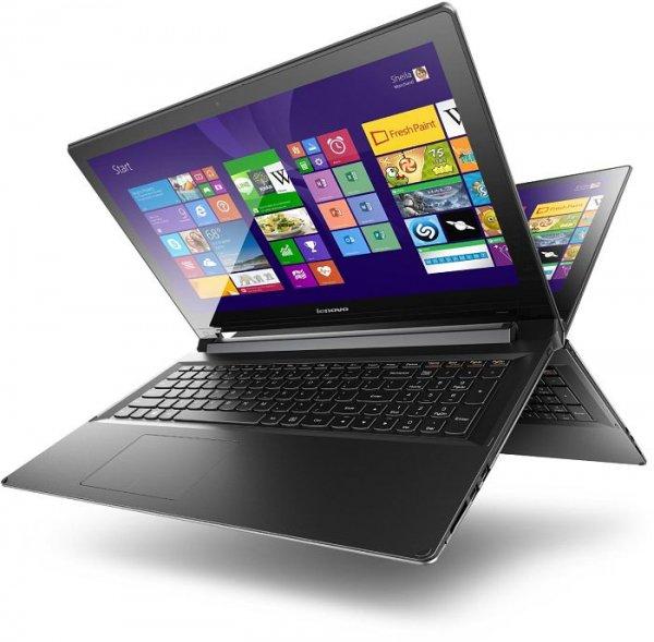 """Lenovo IdeaPad Flex 2 15 schwarz, Core i3-4030U, 4GB RAM, 500GB HDD, 15.6"""", 1920x1080, Multi-Touch, glare, IPS, Windows 8.1 für 374,20€ bei Notebooksbilliger.de"""