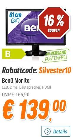 BenQ GL2450HM (HDMI-Version) - 24 Zoll-Monitor für 139€