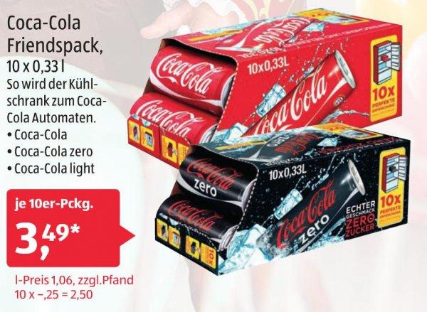 [Aldi-Süd] Coca-Cola/Zero/light 10x0,33l für 3,49€ zzgl. 2,50€ Pfand am 09.01.2016